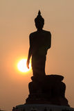 Buddha. Statue in sunset ,isolated Stock Photography