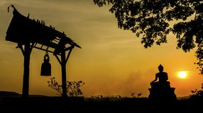 Buddha statue in sunset Royalty Free Stock Image