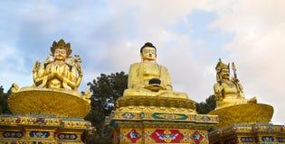 Buddha-Statue an Swayambhunath-Tempel Stockbilder