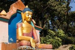 Buddha-Statue, Swayambhunath-Tempel Stockfoto