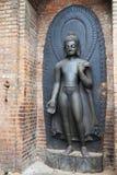 Buddha Statue, Swayambunath, Kathmandu, Nepal Stock Images