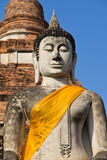 Buddha statue at temple. Limestone statue buddhist state in  Thailand Royalty Free Stock Image