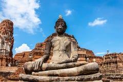 Buddha. Statue, Temple in Ayutthaya, Thailand Stock Photos