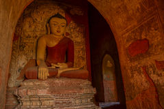 Buddha statue in the temple. Bagan, Myanmar (Burma Stock Photography