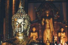 A Buddha statue in a temple royalty free stock photos