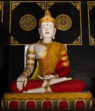 Buddha statue in temple Stock Photo