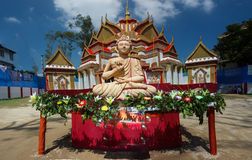 Buddha statue and temple Royalty Free Stock Image