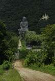 Buddha statue and temple on the mountain Stock Photo
