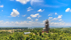 Buddha statue in temple northern thailand. Royalty Free Stock Photo
