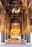 Buddha statue temple Phra That Lampang Luang royalty free stock photo