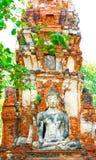 Buddha Statue. Temple Ruins at Ayutthaya, Thailand, UNESCO World Heritage Site Stock Photos