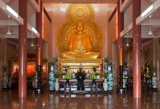Buddha Statue in Temple in Saigon Royalty Free Stock Photo