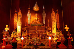 Buddha statue. This is a Buddha statue in temple at thailand royalty free stock images