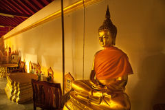 Buddha statue in the temple Royalty Free Stock Images