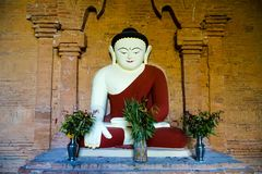 Buddha Statue in Temple. Trip to Myanmar Burma Stock Images
