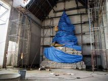 Buddha statue in temple Under construction. Buddha statue and temple Under construction Royalty Free Stock Photo