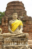 Buddha Statue at the temple of Wat Yai Chai Mongkol in Ayutthaya near Bangkok, Thailand Royalty Free Stock Photography