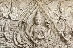 Buddha statue in Thai style molding art. Royalty Free Stock Photos