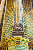 Buddha statue with Thai style pattern Royalty Free Stock Photo