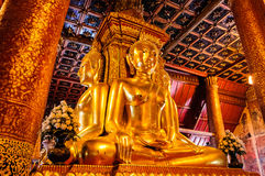 Buddha statue, Thai style. Phumin Temple in Nan Thailand Royalty Free Stock Image