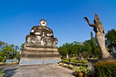 Buddha statue in thai temple Royalty Free Stock Images