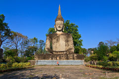 Buddha statue in thai temple Stock Photography
