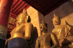 A buddha statue of thai temple Royalty Free Stock Photo
