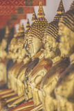 Buddha statue in Thai temple, Thailand Stock Photo