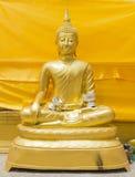 Buddha statue in thai temple, Thailand. Gold buddha statue in thai temple, Thailand Royalty Free Stock Photos