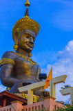 Buddha statue, thailand. Buddha statue and colorful sky Stock Photo