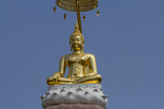 Buddha statue,Thailand. Golden Buddha statue, Phetchaboon Thailand Stock Photos
