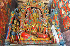 Buddha statue in Tibetan monastery Royalty Free Stock Image