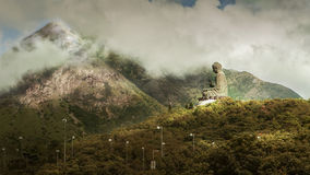 Buddha statue on the top of mountain at Hongkong Stock Images