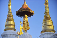 Buddha statue on top of pagoda around Shwedagon Pagoda - Yangon, Stock Photography