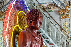 Buddha statue in traditional vietnamese temple Royalty Free Stock Photo