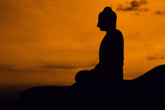Buddha Statue on twilight Royalty Free Stock Photo