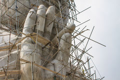 Buddha statue under construction Royalty Free Stock Image