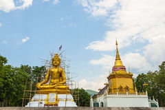 Buddha statue under construction, Thailand. Royalty Free Stock Images
