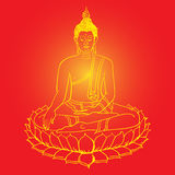 Buddha statue. Vector illustration. Culture Stock Photos