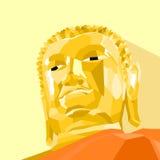 Buddha statue Vector Polygon Styled. Buddha statue. Face of Buddha Vector Polygon Styled Royalty Free Stock Photo