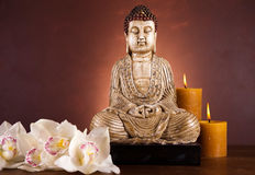 Buddha statue, vivid colors, natural tone Stock Photo