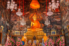 Buddha Statue at Wat Arun - the Temple of Dawn in Bangkok Royalty Free Stock Images