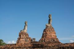 Buddha statue in wat chai wattanaram, ayutthaya, thailand Royalty Free Stock Photos