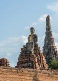 Buddha statue in wat chai wattanaram, ayutthaya, thailand Stock Images