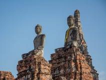 Buddha statue in wat chai wattanaram, ayutthaya, thailand Royalty Free Stock Photography