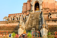 Buddha statue at wat chedi luang Stock Photo