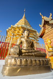 Buddha statue in Wat Doi Suthep - buddhist temple Royalty Free Stock Photos
