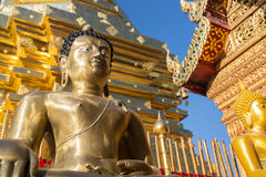 Buddha statue in Wat Doi Suthep - buddhist temple in Chiang Mai Royalty Free Stock Photography