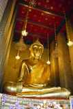 Buddha statue at Wat kanraya Namit Bangkok. Wat kanraya Namit, the lanmark of Bangkok. Tourism calf admire a lot Stock Photos