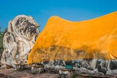 Buddha statue Wat Lokayasutharam Ayutthaya bangk Royalty Free Stock Photos
